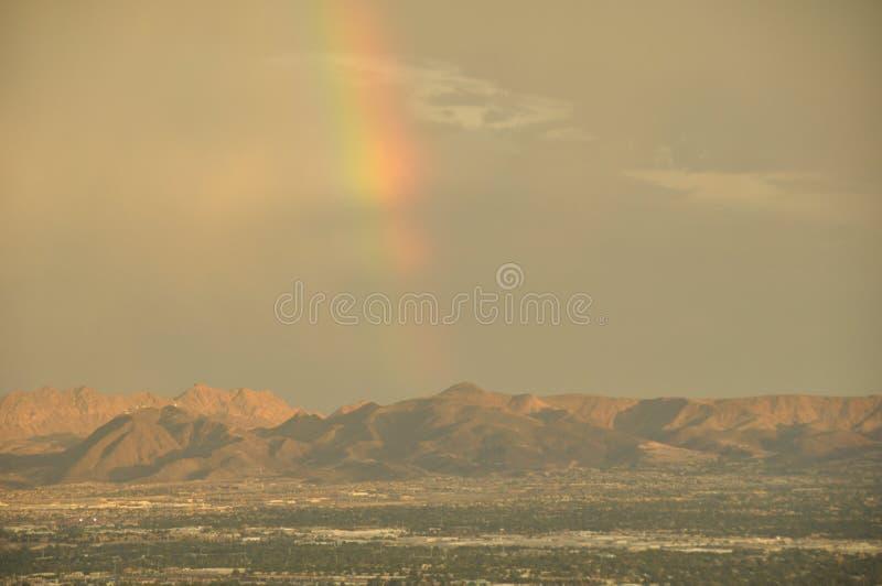 Arcobaleno del deserto fotografia stock libera da diritti
