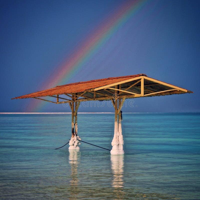 Arcobaleno del mar Morto fotografie stock libere da diritti