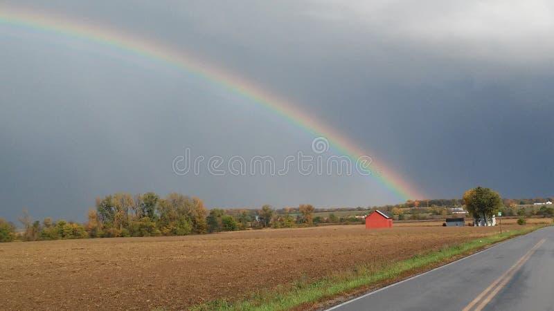 Arcobaleno del paese fotografia stock libera da diritti