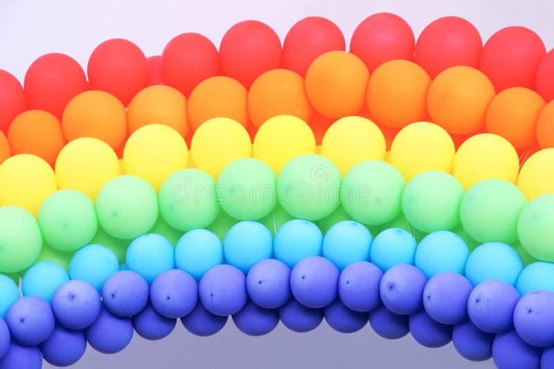 Arcobaleno del pallone immagini stock