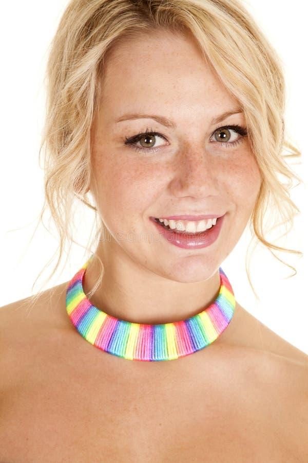 Arcobaleno della donna del collo fotografia stock libera da diritti