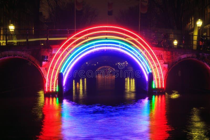 Arcobaleno di Amsterdam fotografia stock libera da diritti