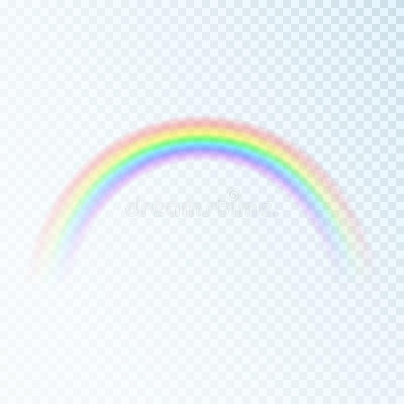 Arcobaleno di colore Spettro di luce, sette colori Illustrazione di vettore isolata su fondo trasparente royalty illustrazione gratis