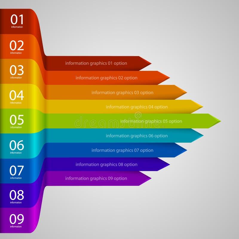 Arcobaleno di crescita di affari delle frecce illustrazione di stock