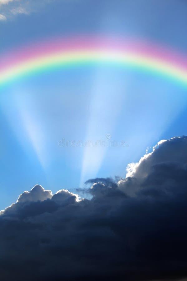 Arcobaleno di speranza fotografie stock libere da diritti