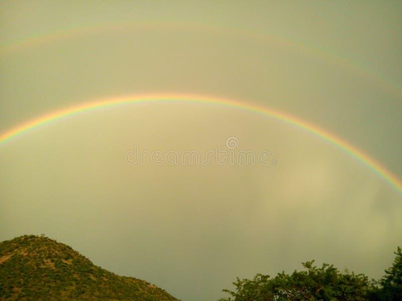 Arcobaleno due fotografie stock