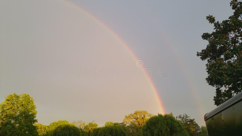 Arcobaleno nel cielo immagine stock libera da diritti