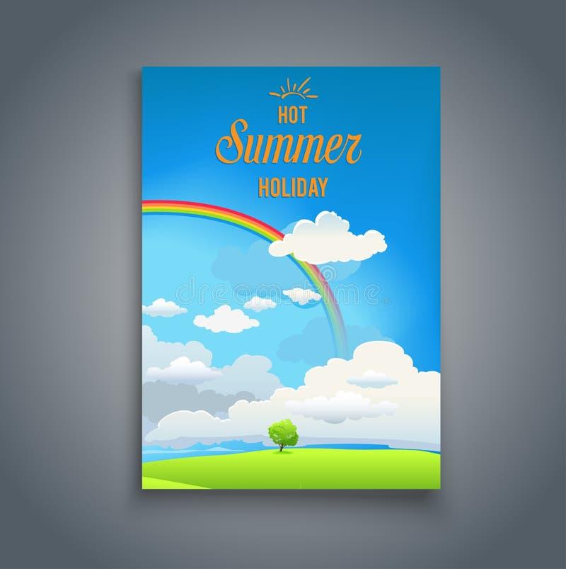 Arcobaleno nel cielo royalty illustrazione gratis