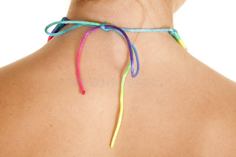 Arcobaleno posteriore della collana immagini stock libere da diritti