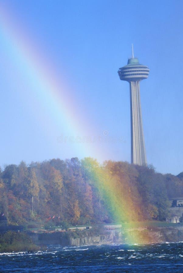 Arcobaleno sopra il cascate del Niagara, Canada immagine stock