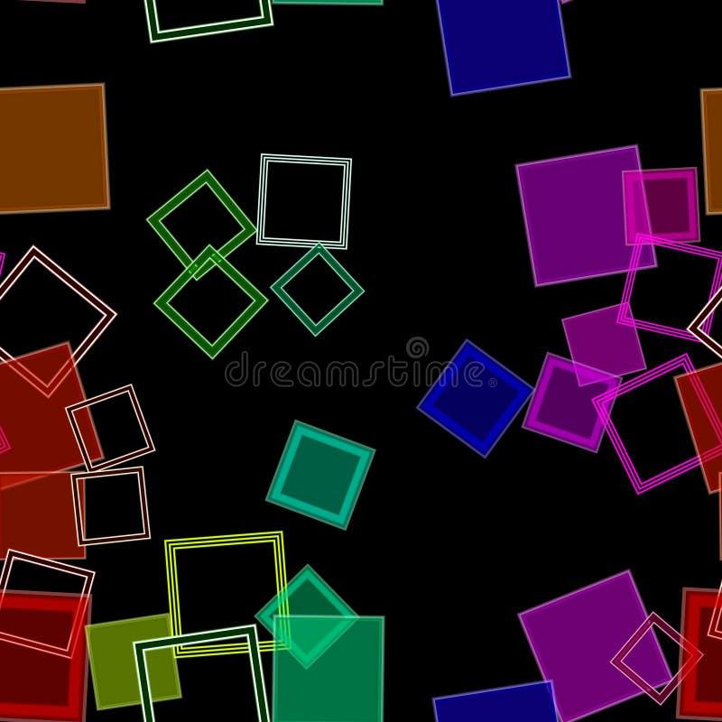 Arcobaleno sparso dei quadrati illustrazione di stock