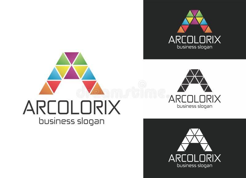 Arcolorix A Letter Logo royalty free illustration