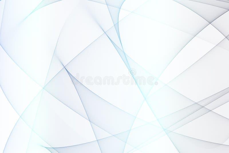 Arcos abstratos azuis da energia ilustração stock