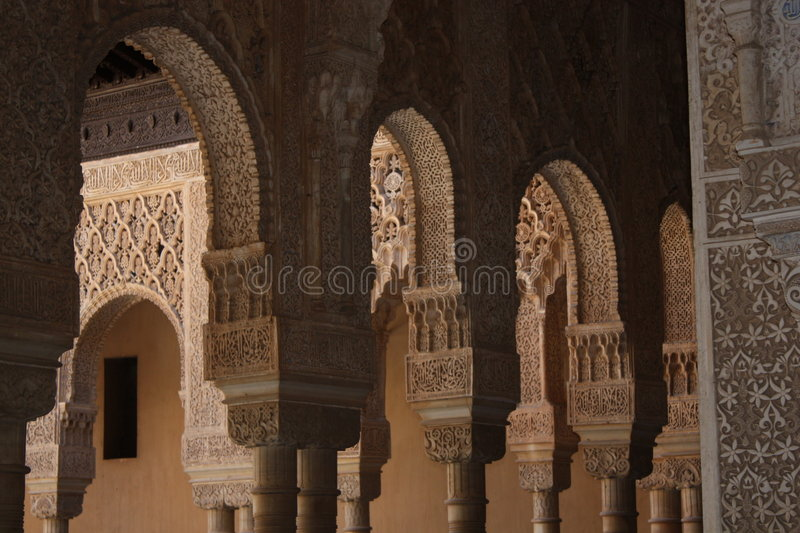 Arcos, Alhambra imagens de stock royalty free