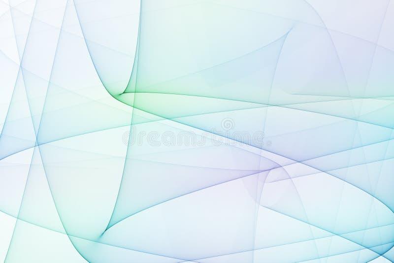 Arcos azuis e verdes da energia ilustração royalty free