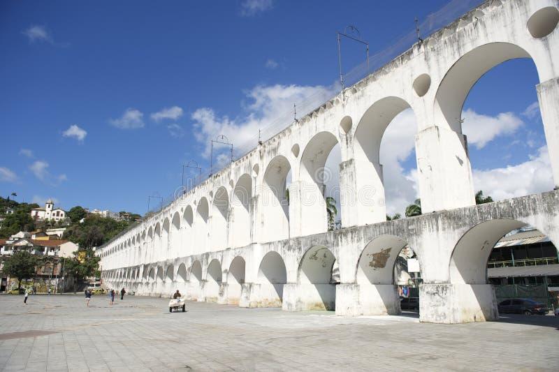 Arcos blancos en Arcos DA Lapa Rio de Janeiro Brazil fotografía de archivo libre de regalías
