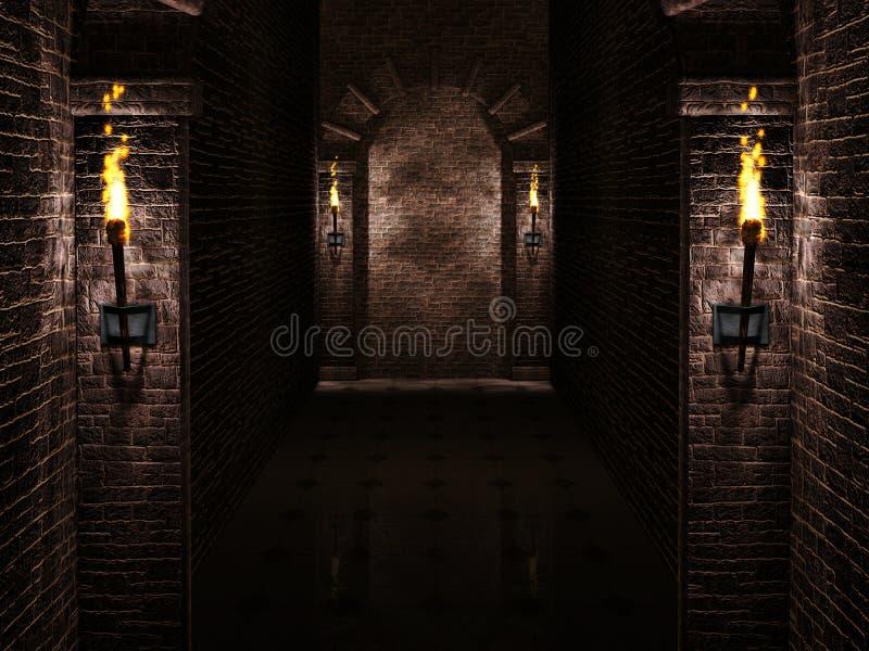 Arcos com fundo das tochas ilustração royalty free