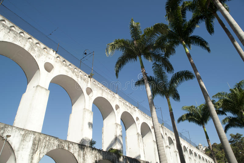 Arcos da Lapa. At Rio de Janeiro Downtown District, Brazil stock image