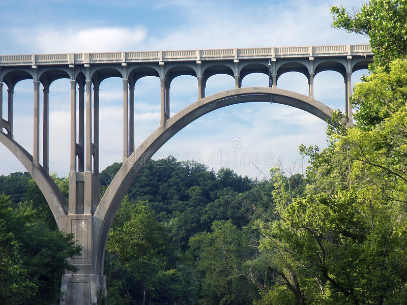 Arcos da ponte foto de stock