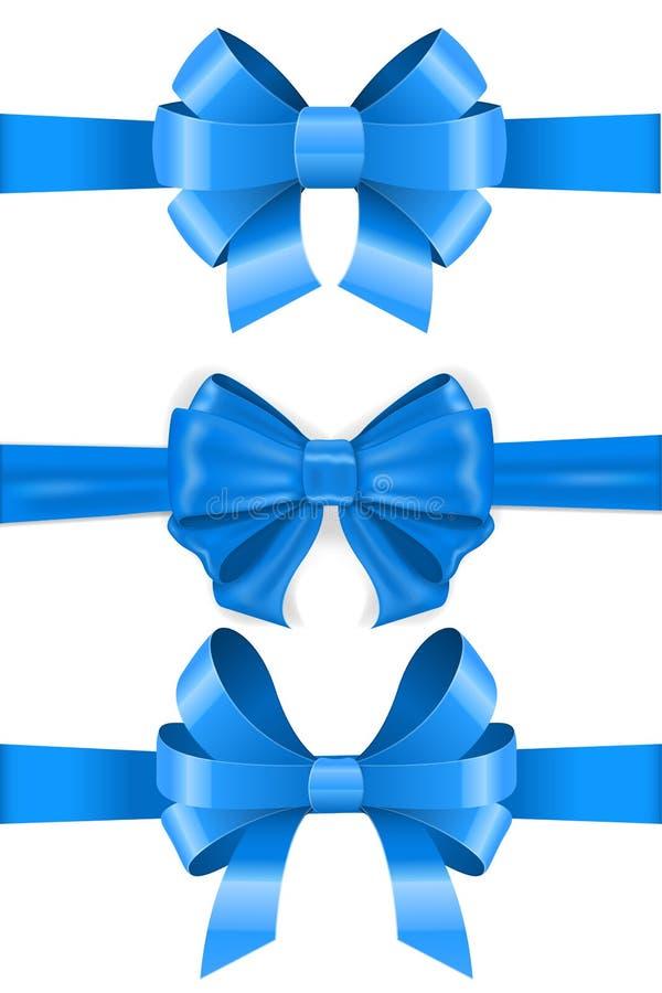 Arcos de Blue Ribbon conjunto stock de ilustración