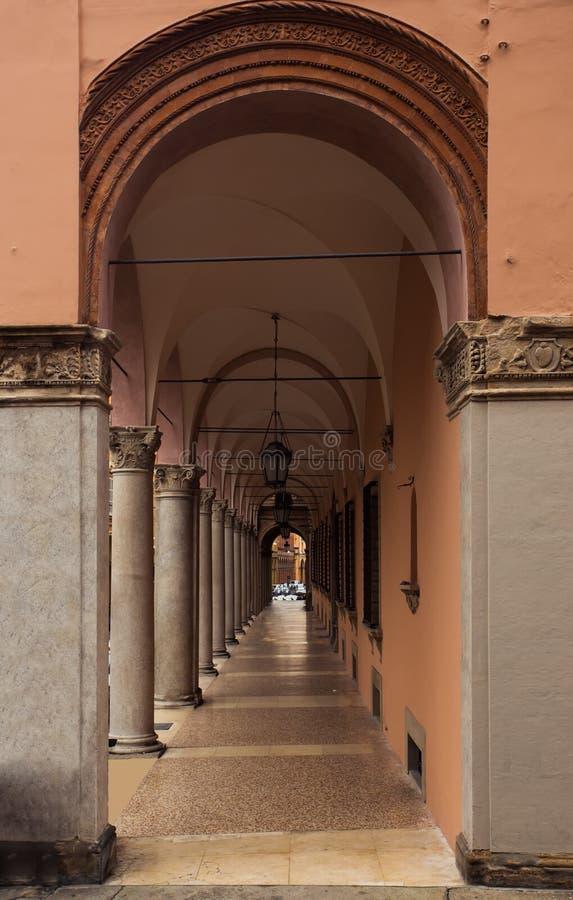 Arcos de Bolonia foto de archivo libre de regalías