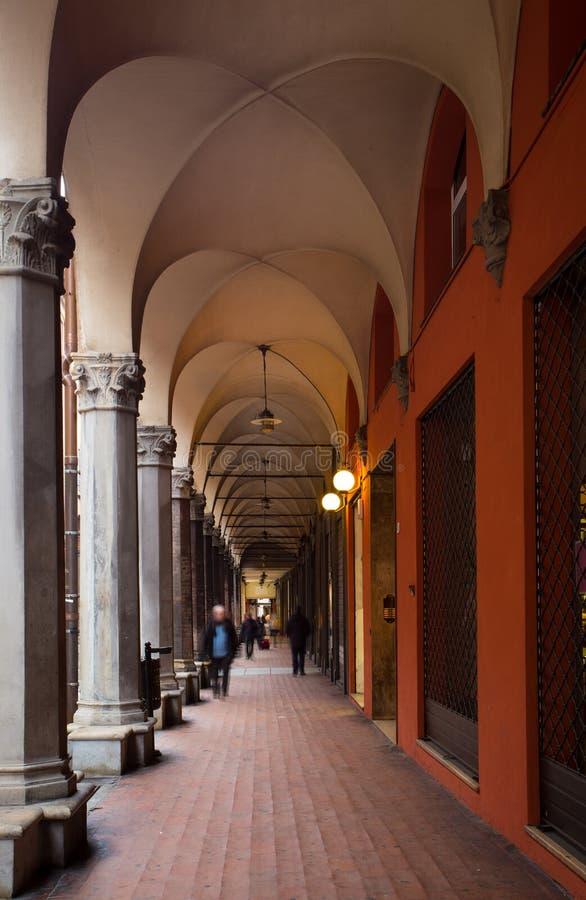 Arcos de Bolonia fotografía de archivo libre de regalías