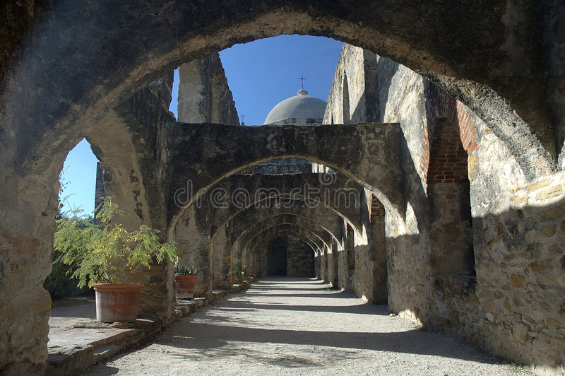 Arcos de Colonade imagens de stock