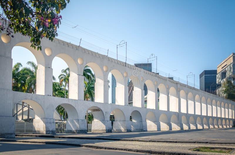 Arcos de Arcos DA Lapa - Rio de Janeiro, el Brasil imagen de archivo libre de regalías