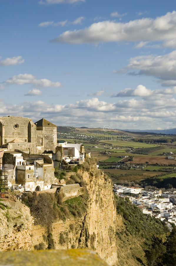 Arcos de la Frontera. Is a town in the province of Cádiz in southern Spain royalty free stock image