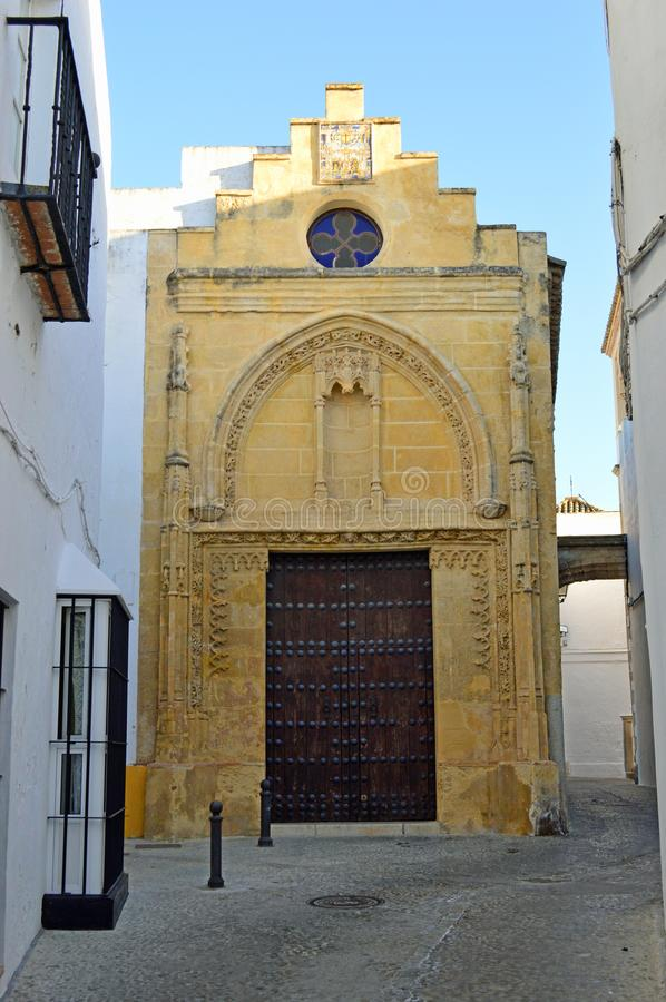 Arcos de la Frontera Chapel. Small chapel In Arcos de la Frontera. Arcos de la Frontera is a town and municipality in the Sierra de Cádiz comarca, province of stock photography