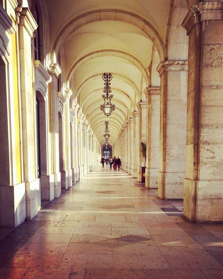 Arcos de Wonderdul em Lisboa Portugal imagens de stock royalty free