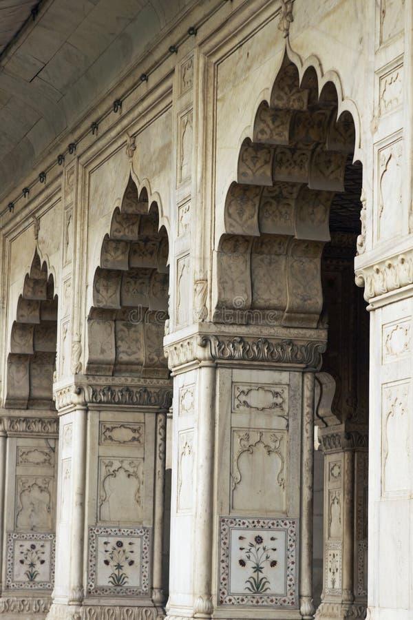 Arcos del estilo de Mughal fotos de archivo libres de regalías