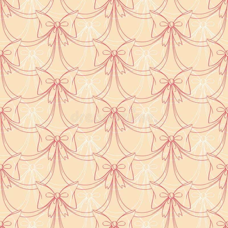 Arcos del rosa y del blanco ilustración del vector