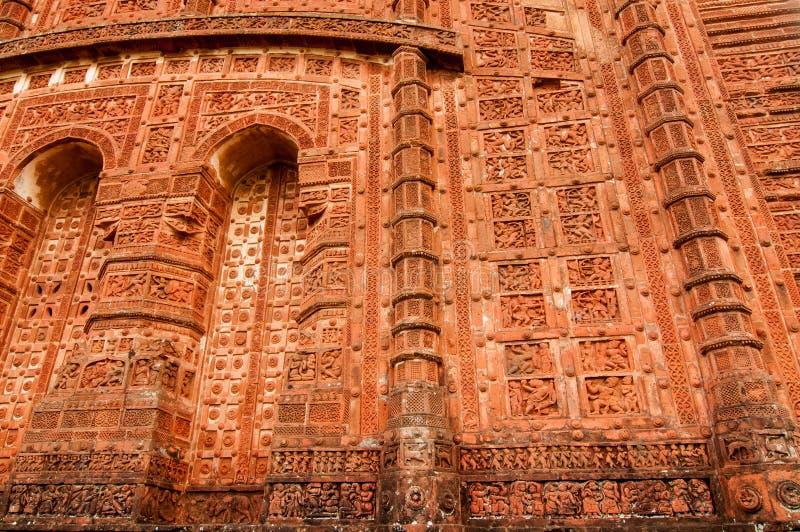 Arcos del templo de Jorbangla, Bishnupur, la India imagen de archivo