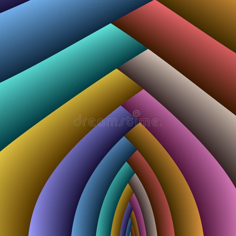 Arcos do arco-íris ilustração royalty free
