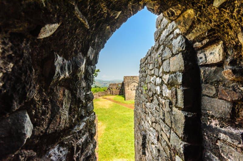 Arcos e Índia antigos da estrutura imagens de stock