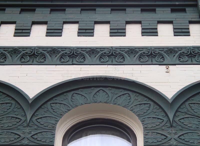 Arcos e detalhes do centro históricos da construção fotos de stock