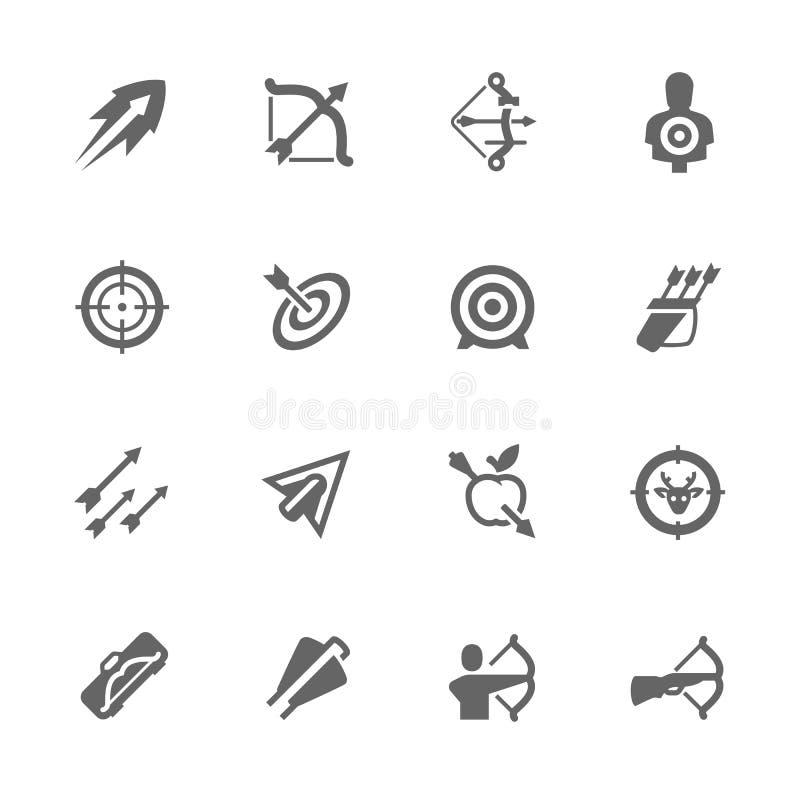 Arcos e iconos simples de las flechas ilustración del vector