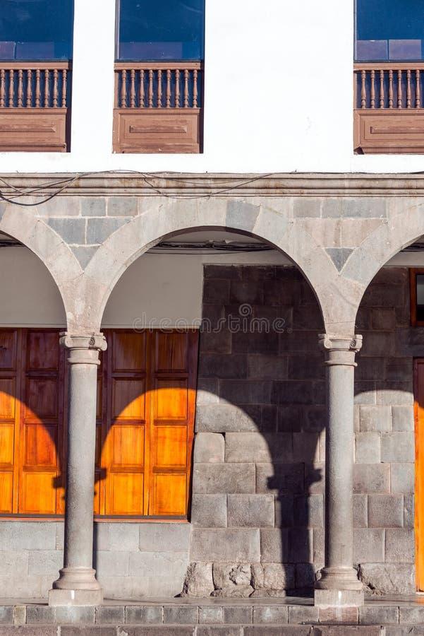 Arcos en Cuzco, Perú foto de archivo