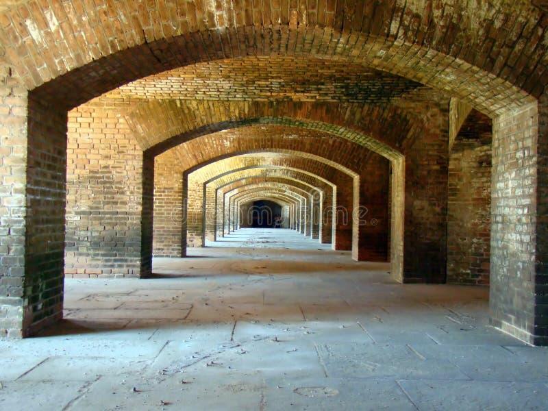 Arcos en la fortaleza histórica Jefferson NP, Tortugas seco fotos de archivo libres de regalías
