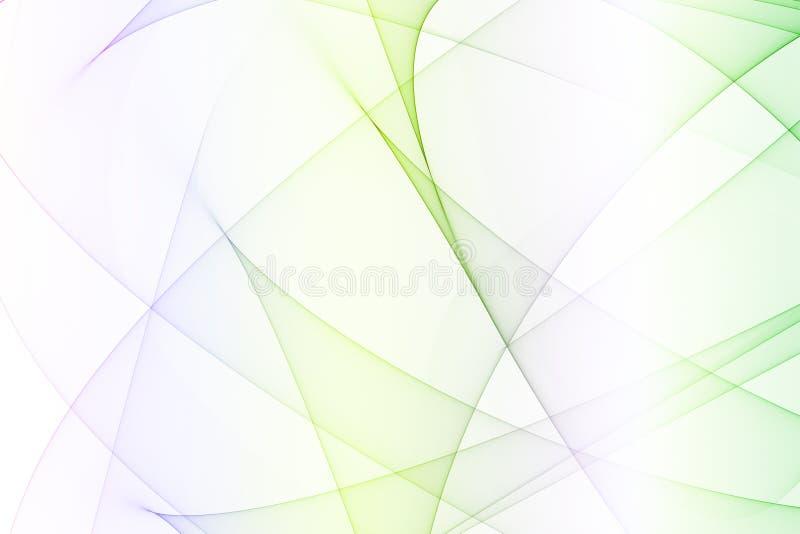 Arcos futuristas da energia do verde azul ilustração stock
