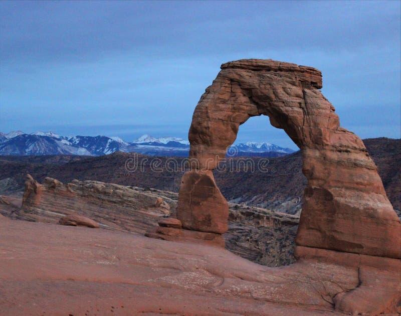 Arcos parque nacional, Moab, Utah foto de archivo libre de regalías