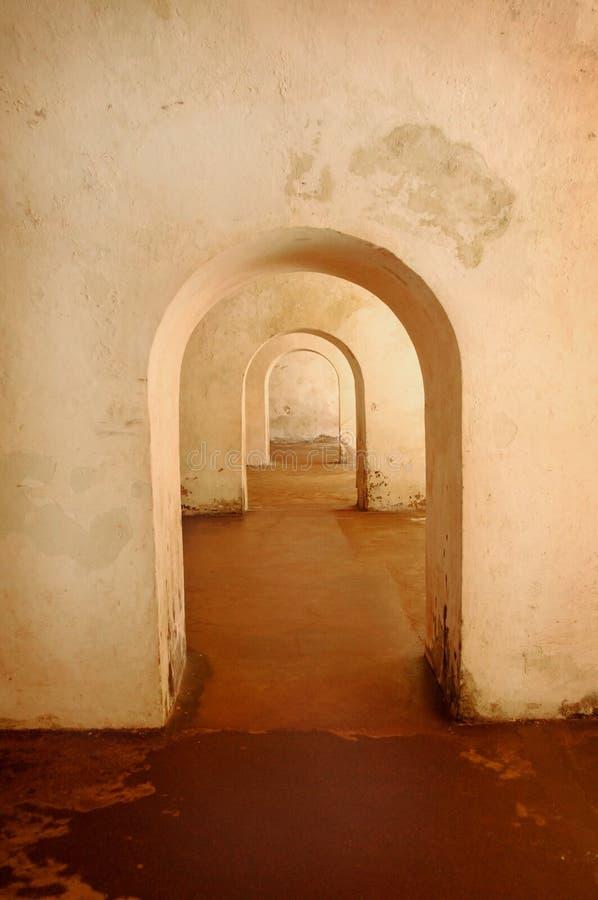 Arcos viejos del estuco foto de archivo libre de regalías