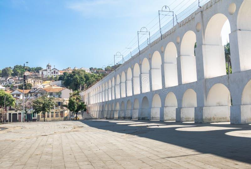 Arcos y Santa Teresa - Rio de Janeiro, el Brasil de Arcos DA Lapa imagenes de archivo
