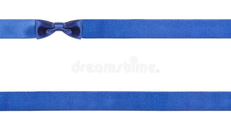 Arcs bleus et rubans de satin d'isolement - ensemble 17 image stock