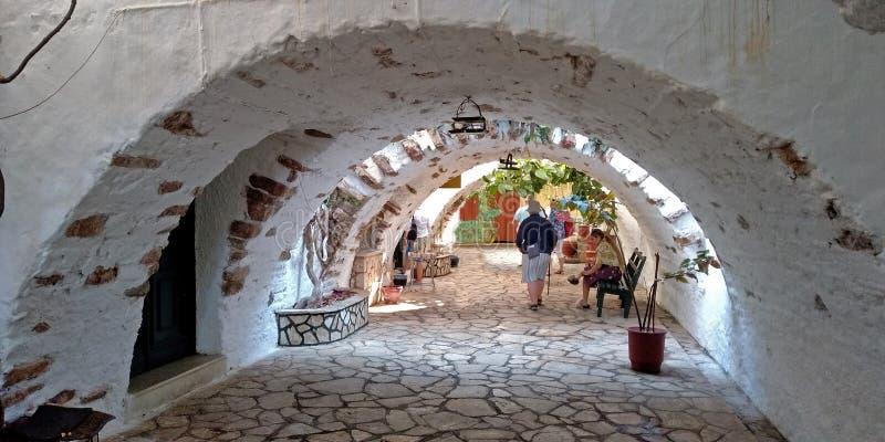 Arcs in Monastery stock image