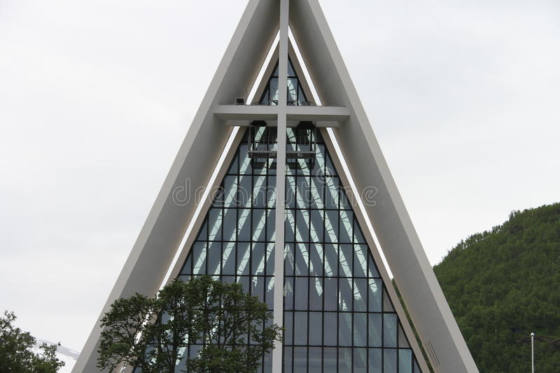 Arctic Cathedral, City of Tromso, Norway stock photography