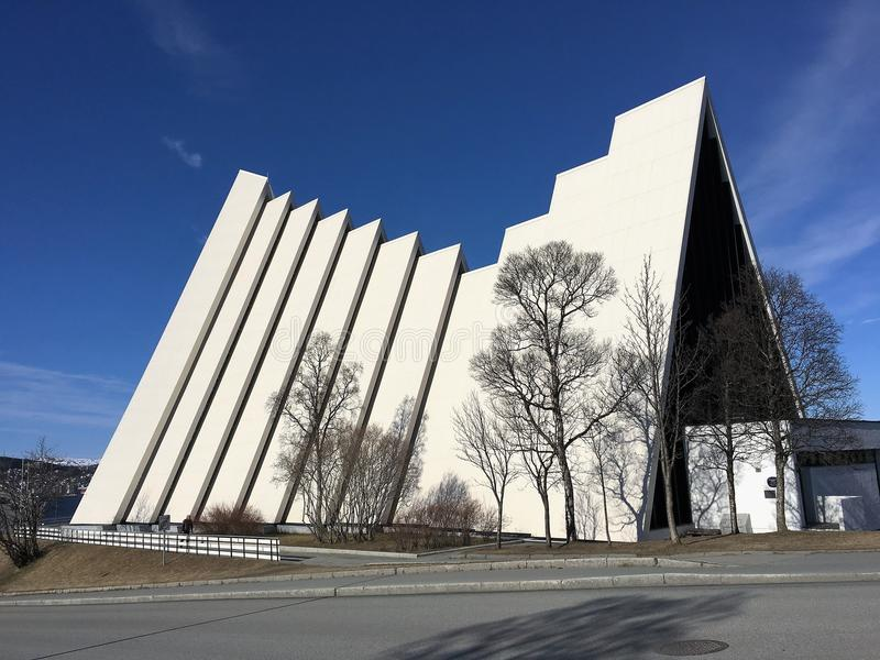 The arctic cathedral, Norway. stock photo