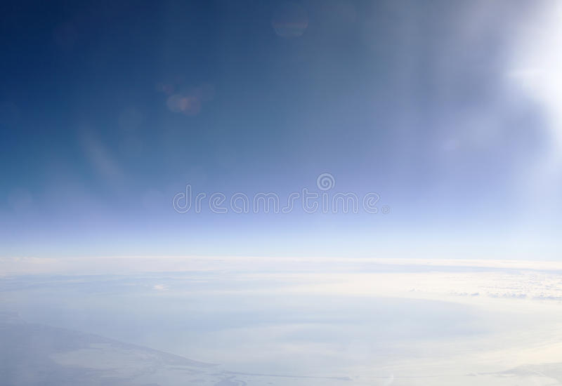 Arctic circle landscape. Extreme arctic circle landscape, aerial view royalty free stock photos