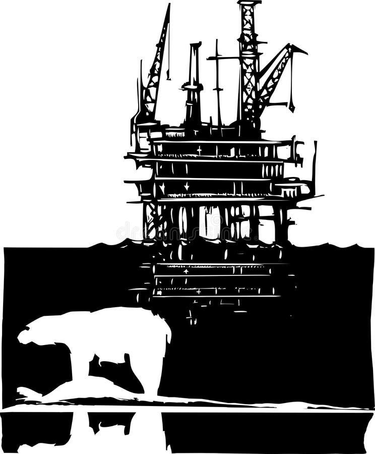 Download Arctic Drilling stock vector. Illustration of petroleum - 34834924